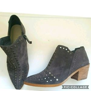 1. State grey loka studded suede booties 6.5